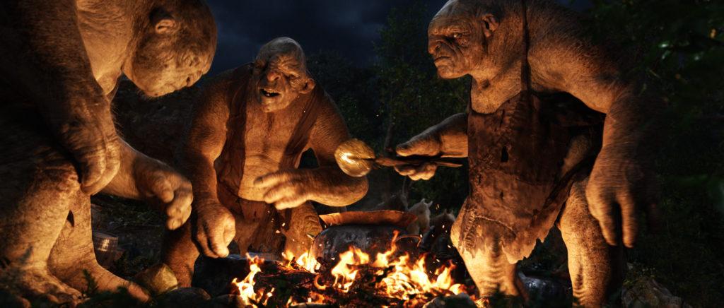 Trolls autour d'un feu