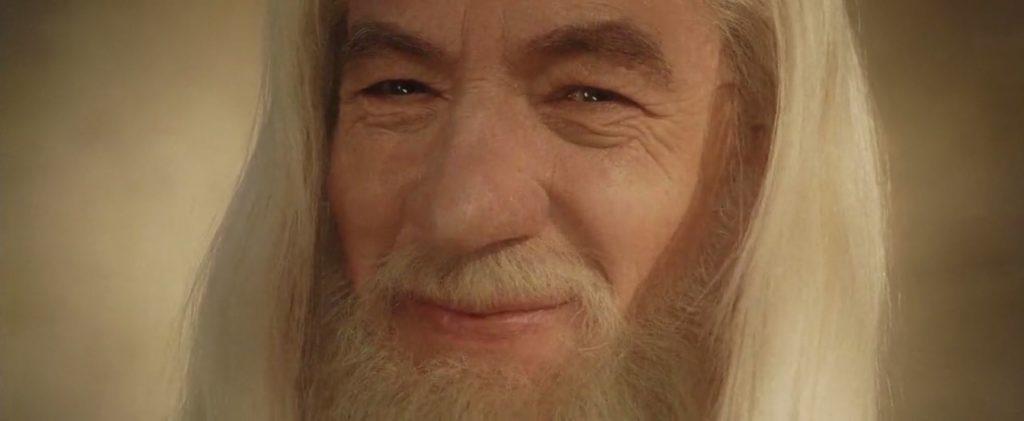 Gandalf le seigneur des anneaux sourire