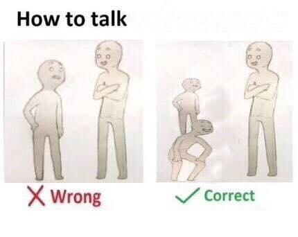 How to talk meme
