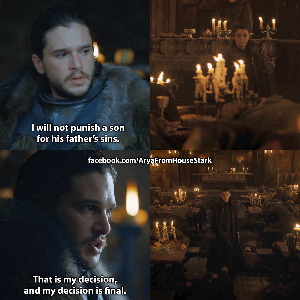 jon snow arya stark red wedding