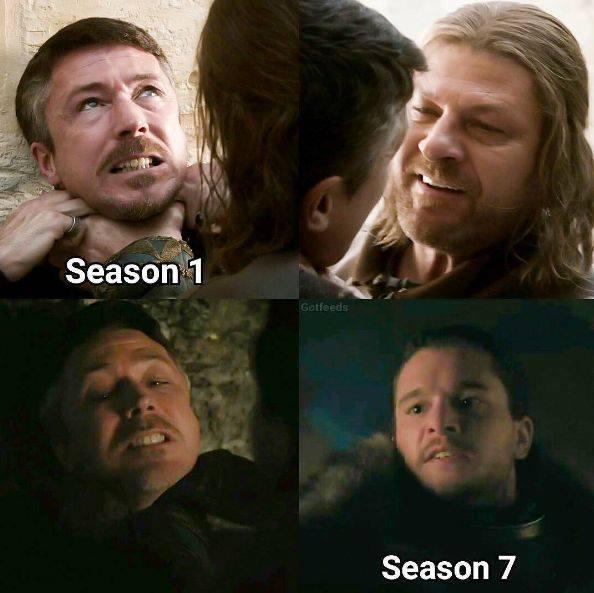 Game of thrones season 7 meme