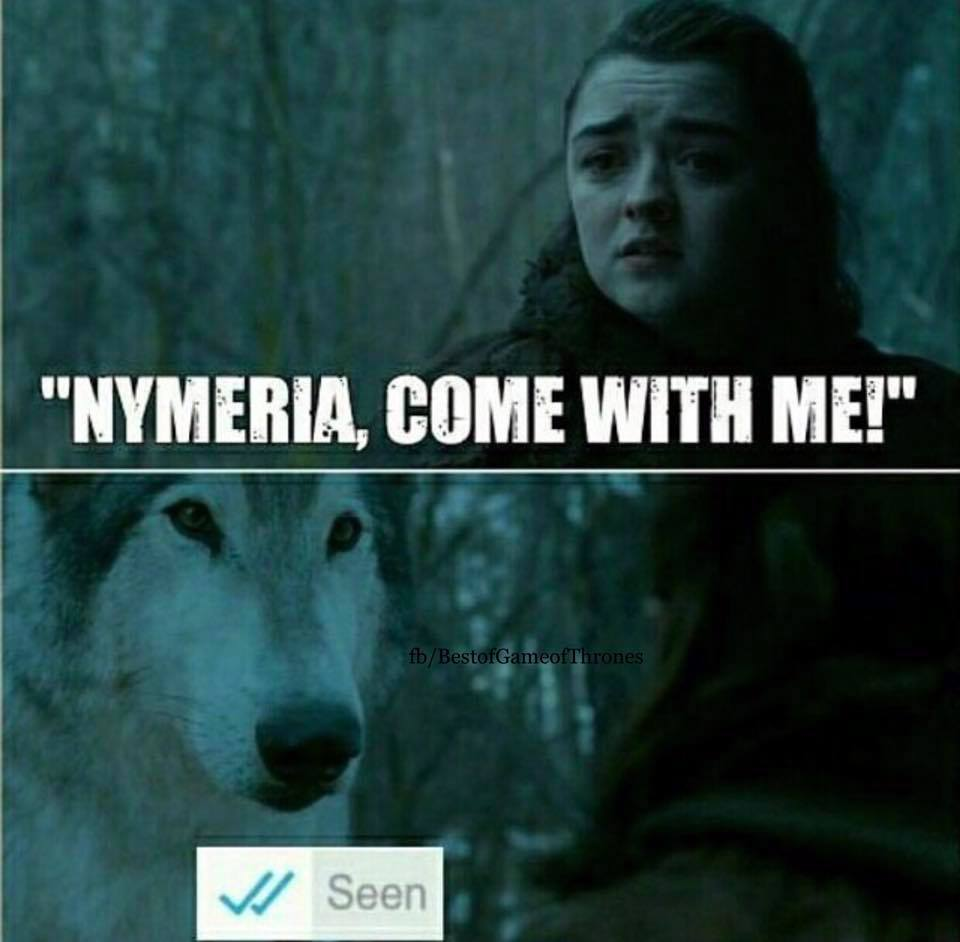 Arya Nymeria season 7 meme