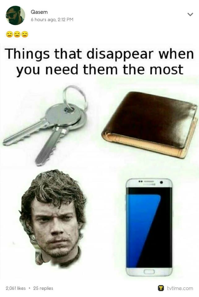 Game of Thrones season 7 meme theon greyjoy