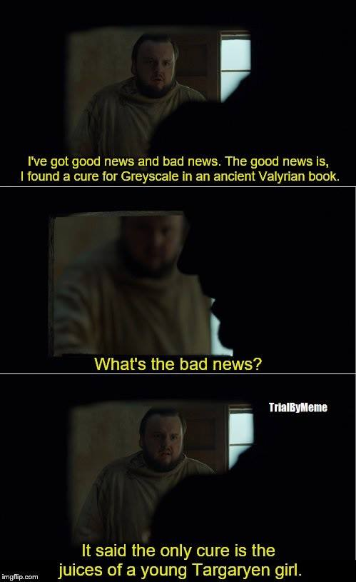 Samwell Tarly Game of Thrones meme