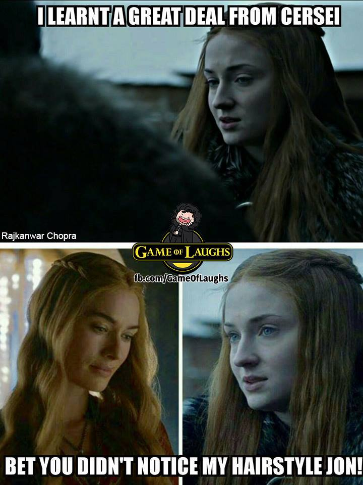 Sansa Cercei Game of Thrones meme