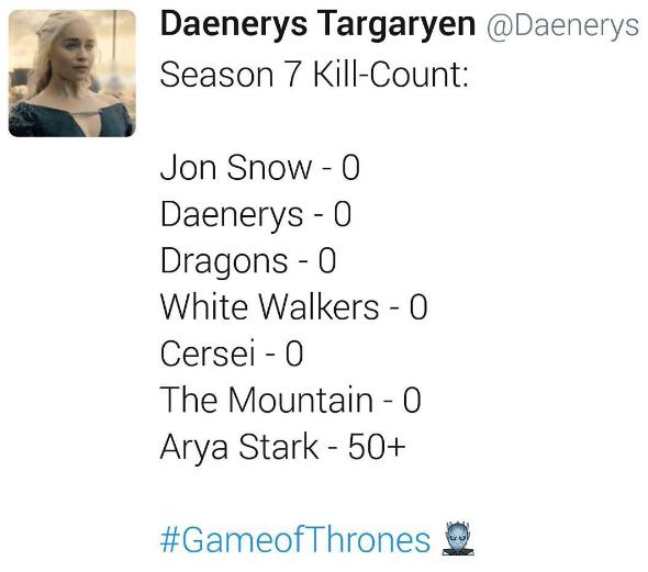 Season 7 kill count