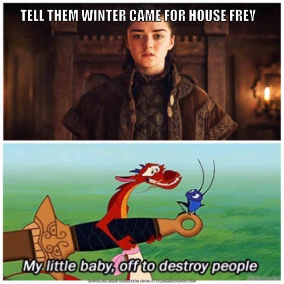 Arya Stark Frey meme