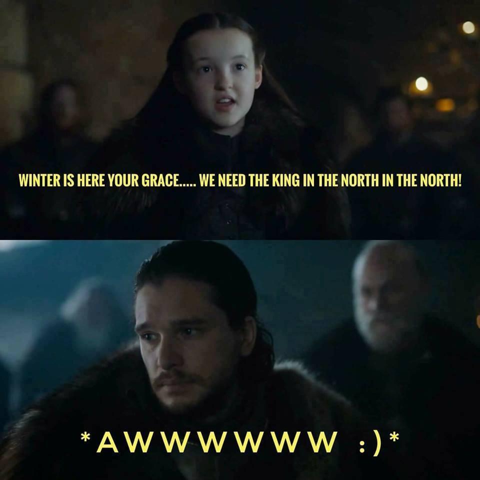 Lyanna mormont jon snow meme