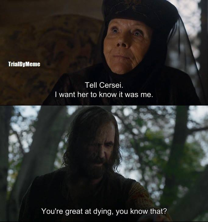 olenna tyrell great at dying