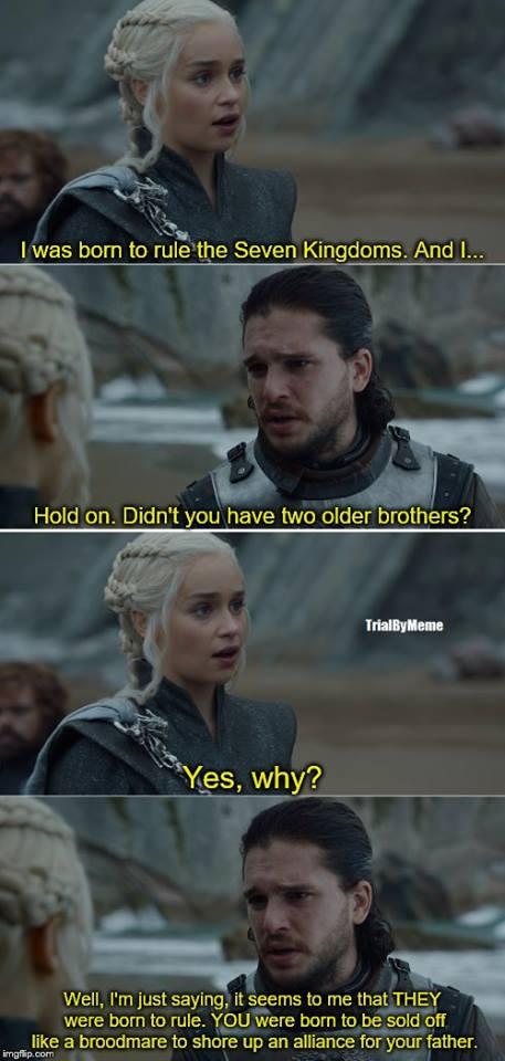 Daenerys Jon Snow meme