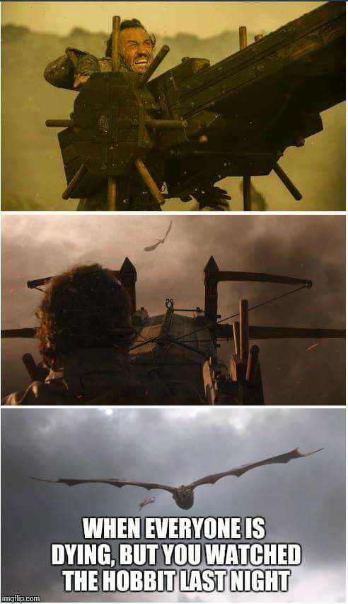 Bronn Drogon meme