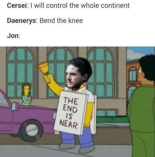 Jon Snow meme Simpsons