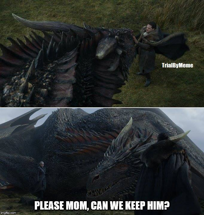 game of thrones meme Dragon Jon