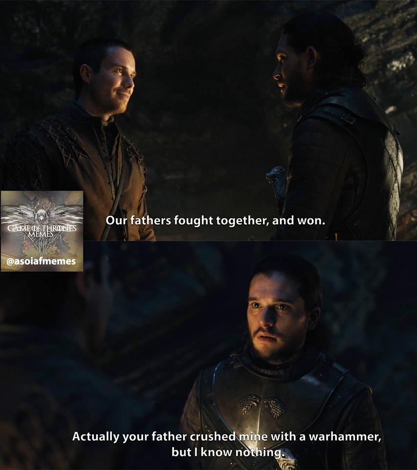 Jon snow gendry daddy meme