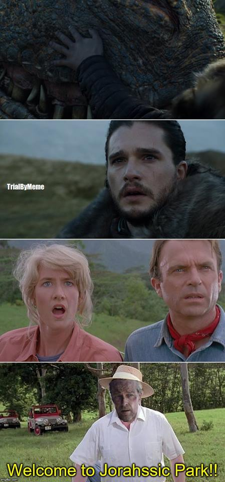Jorahssic Park Game of Thrones meme