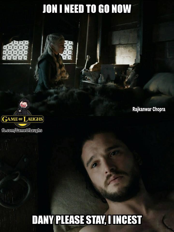 Jon Daenerys incest meme