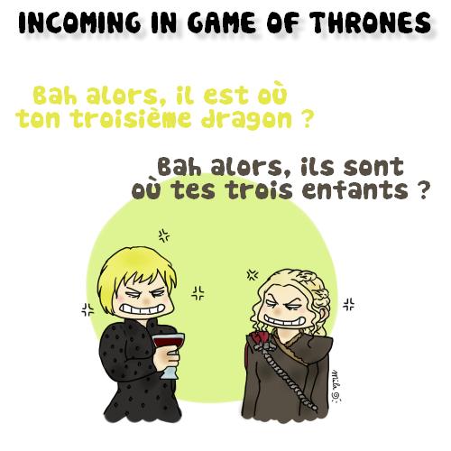 Cercei Daenerys BD clash meme dragon enfants
