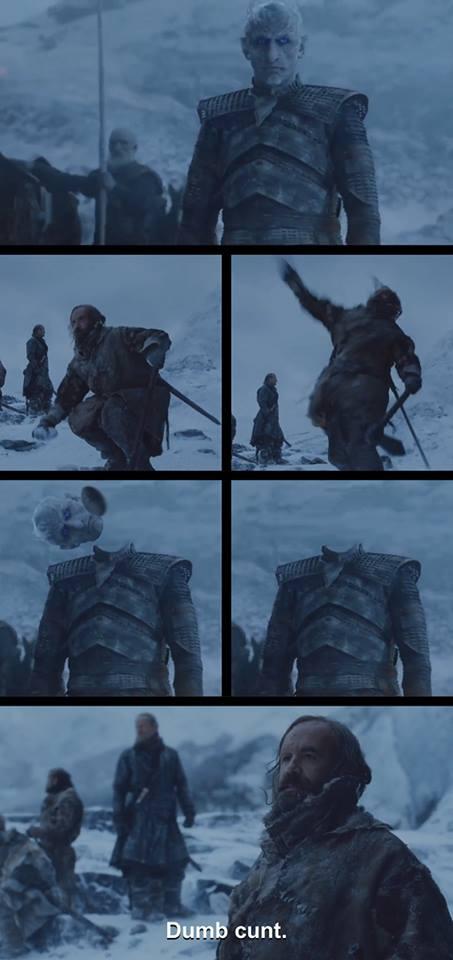 The Hound meme White Walker