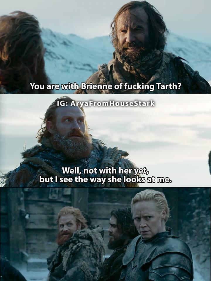 Tormund Brienne The Hound meme