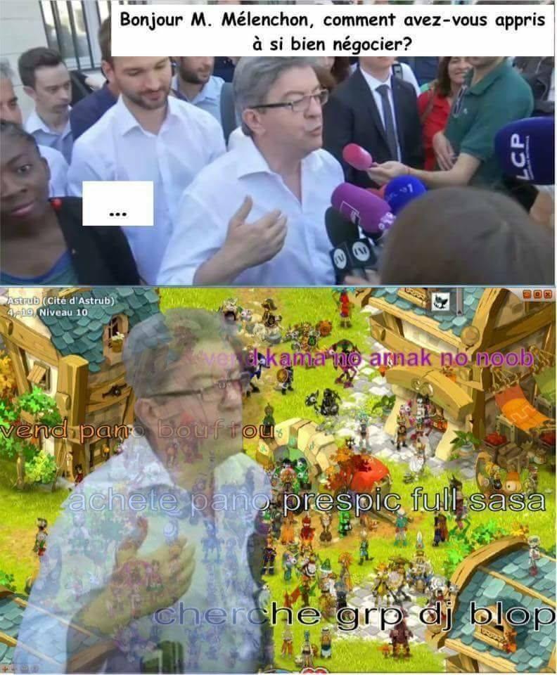 Mélenchon Dofus meme