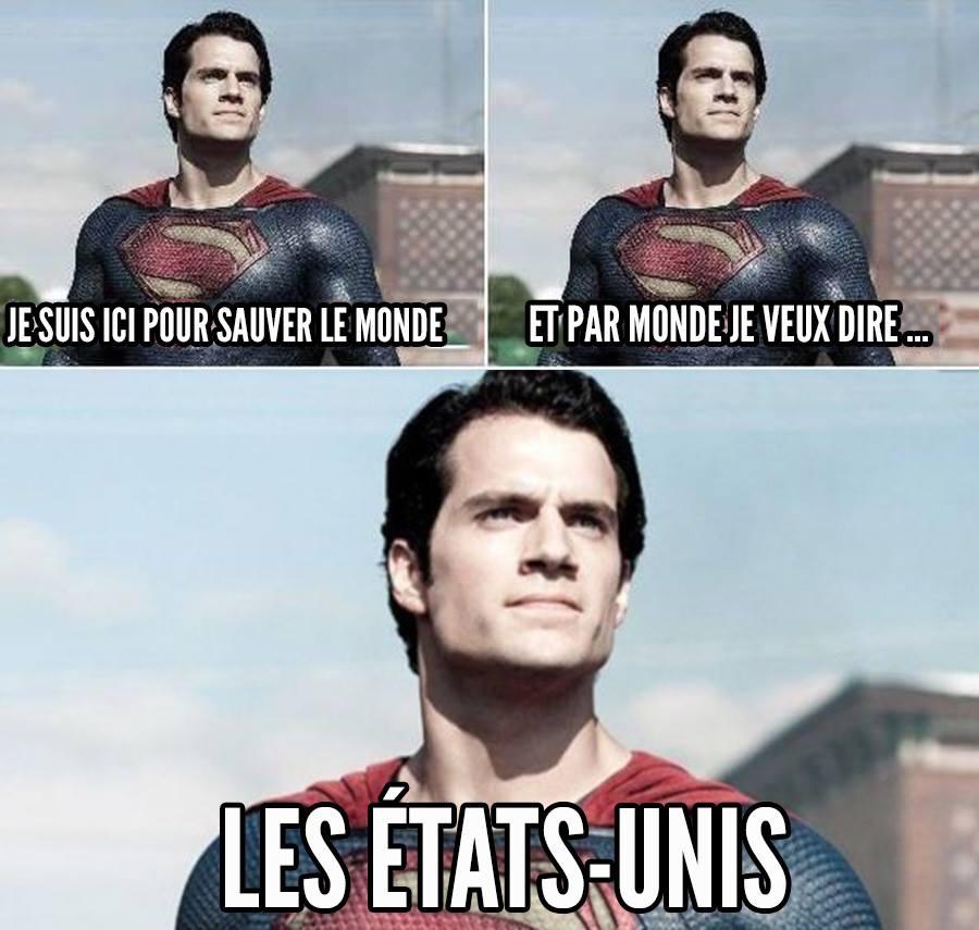 Sauver le monde humour Superman meme