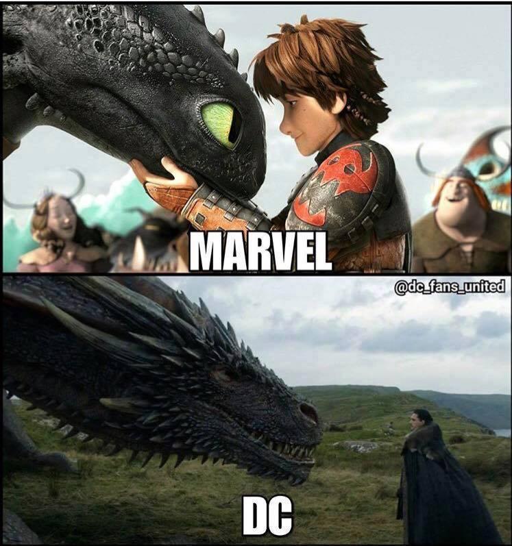 Humour Dragon Marvel DC Game of Thrones meme