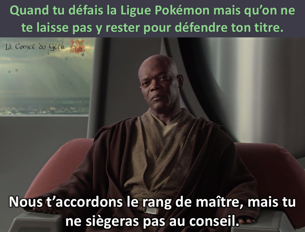 Mace Windu Star Wars Ligue Pokémon humour