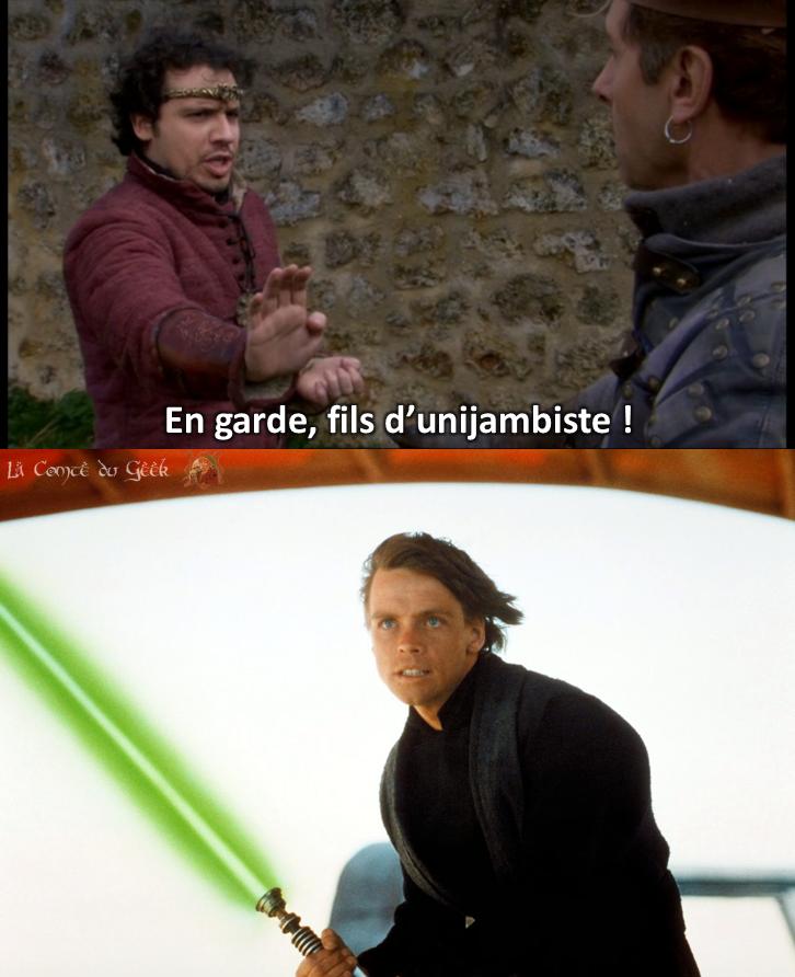Kaamelott Star Wars Luke Roi Arthur Maître d'arme fils d'unijambiste