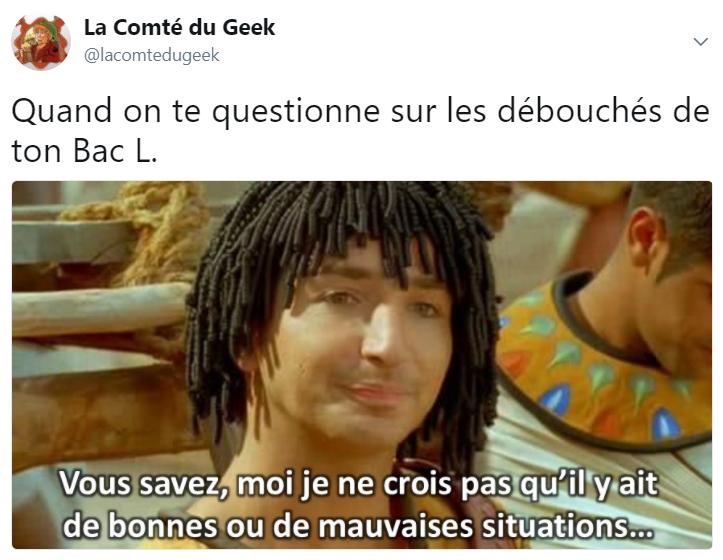 Humour Astérix et Obélix Missions Cléopatre Otis bonne situation bac L