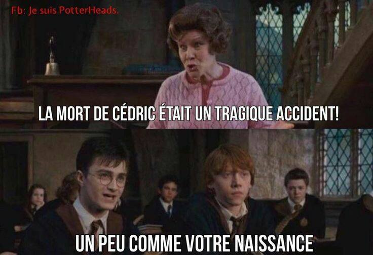 Harry Potter Dolores Ombrage clash tragique accident