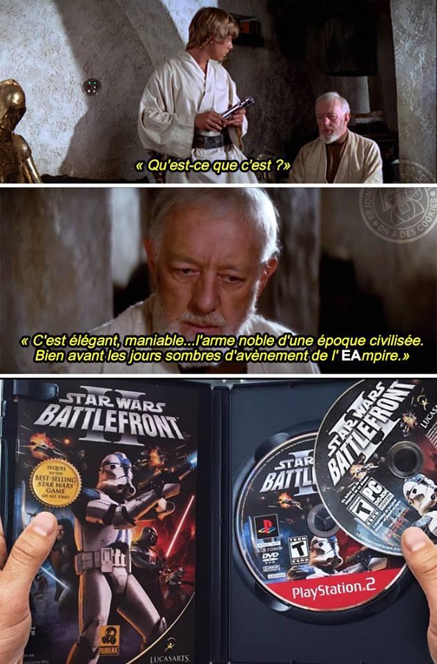 star wars meme humour EA battlefront