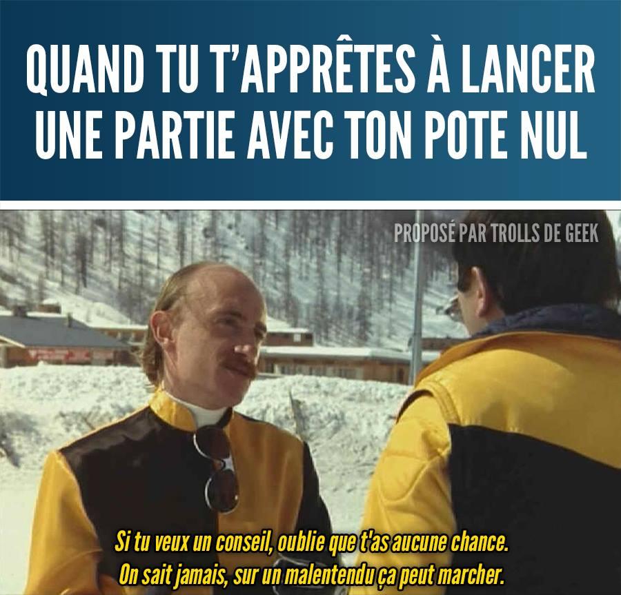 Jeux Vidéo meme Les Bronzés humour