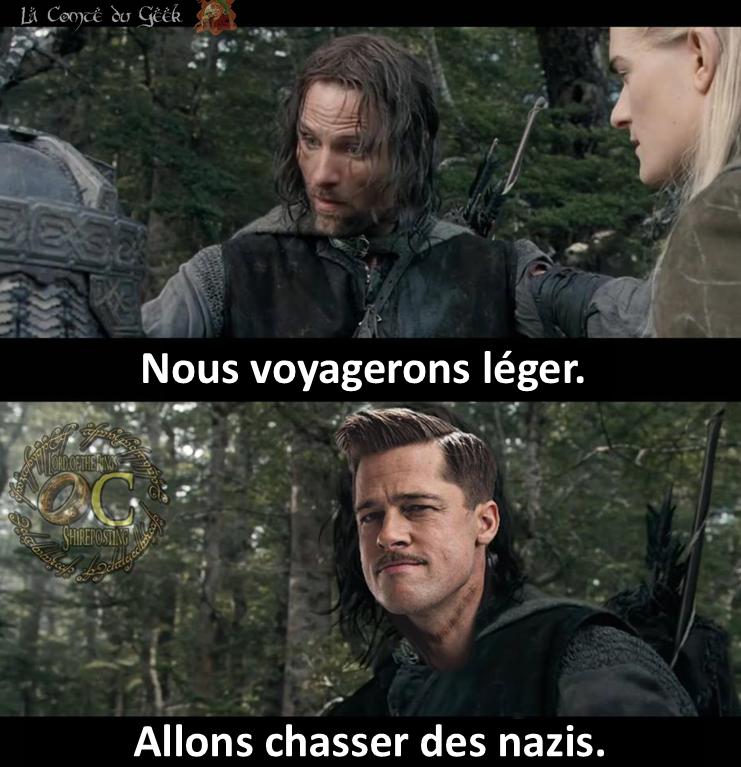 aragorn le seigneur des anneaux inglorious basterds meme