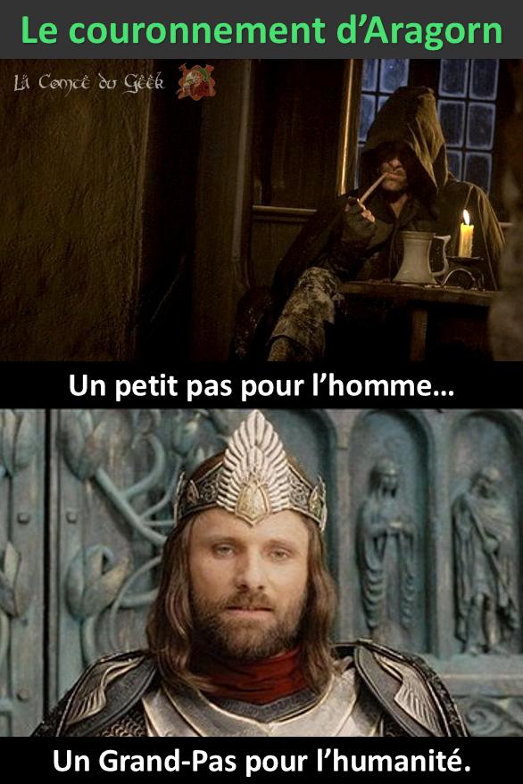 couronnement aragorn le seigneur des anneaux humour meme