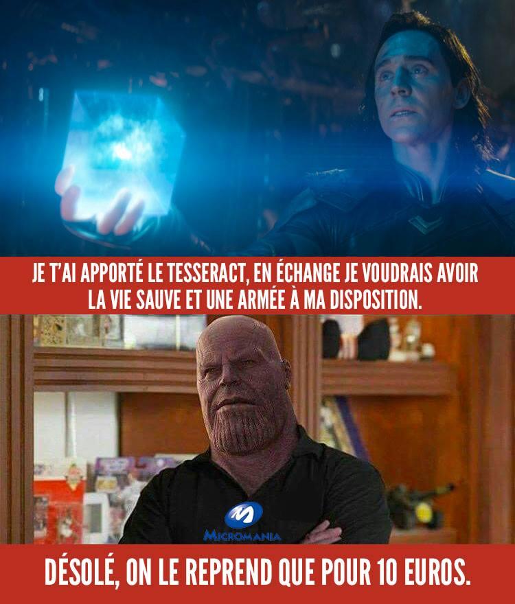 micromania thor loki meme humour tesseract avengers