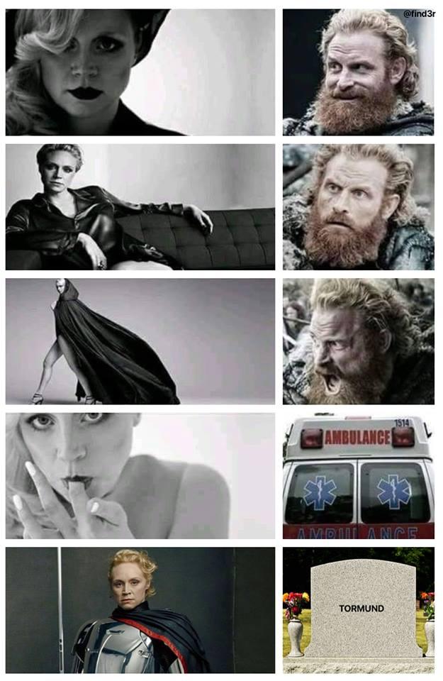 Tormund brienne meme game of thrones humour
