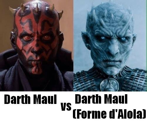 Dark Maul Star Wars Pokémon Game of Thrones Forme d'alola