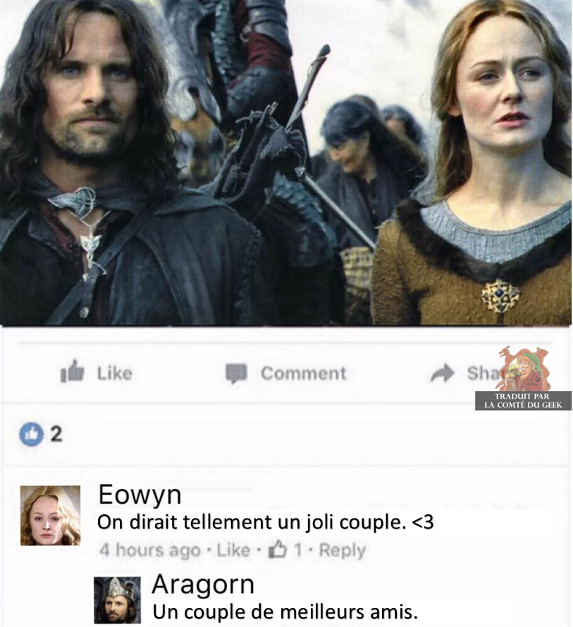 Aragorn Eowyn friendzone humour