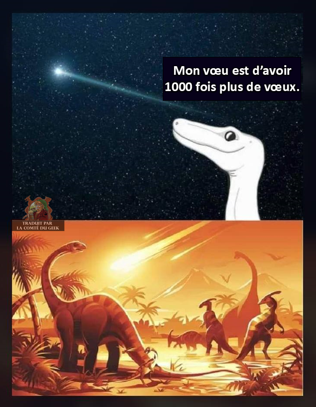 Dinosaure extinction image drôle