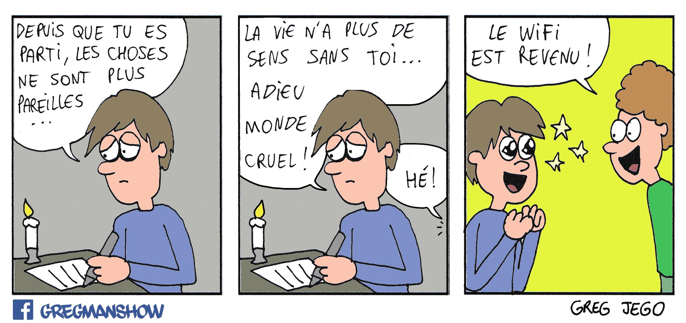The Greagman Show Le wifi est revenu humour dépression