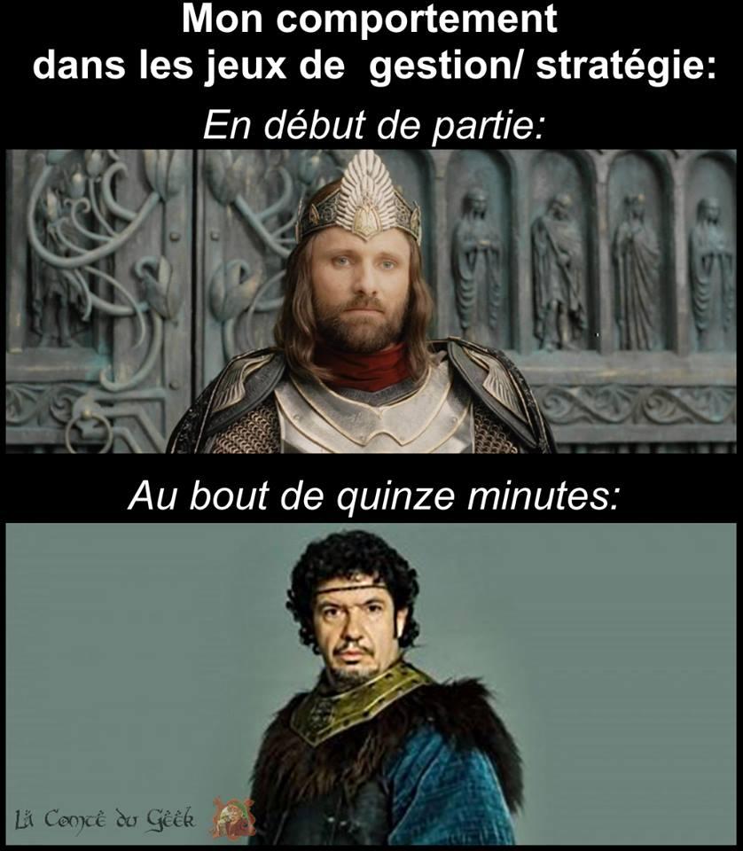 aragorn leodagan le seigneur des anneaux kaamelott jeux vidéo getion stratégie humour