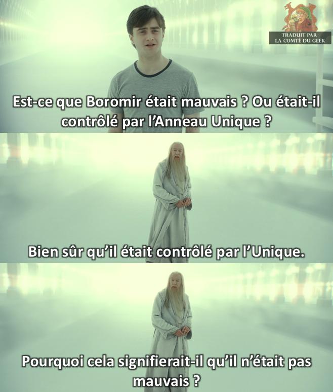 harry potter dumbledore humour boromir le seigneur des anneaux meme