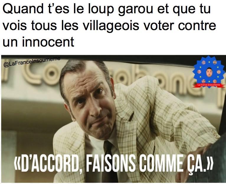 Loup Garou meme OSS 117 faisons comme ça
