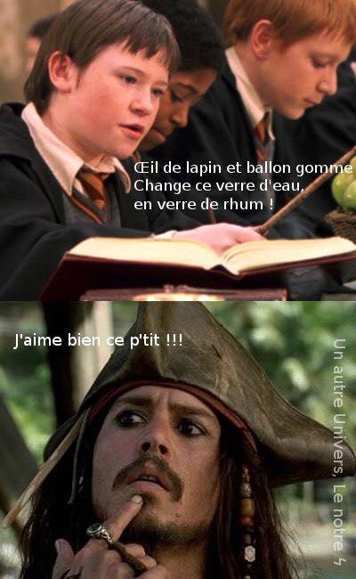 harry potter pirates des caraibes humour meme jack sparrow