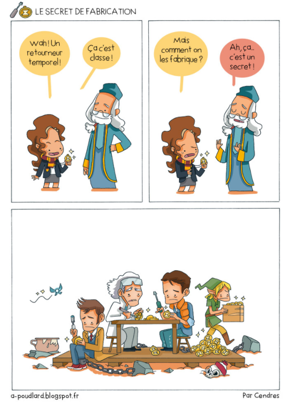 Harry Potter BD à poudlard humour noir cendres