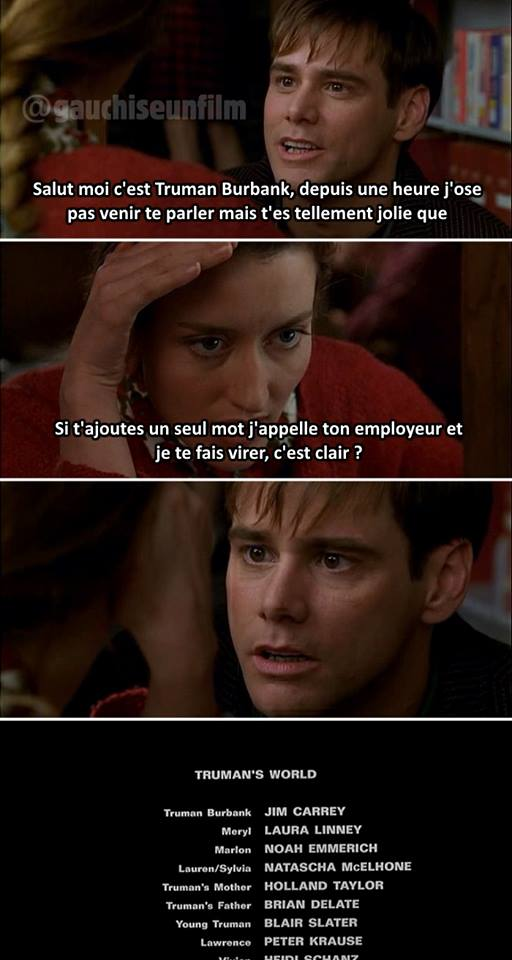 The Truman Show meme gauchise un film