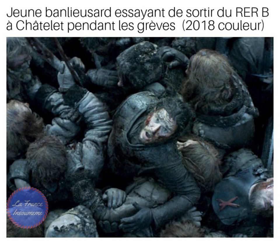 game of thrones meme RER B