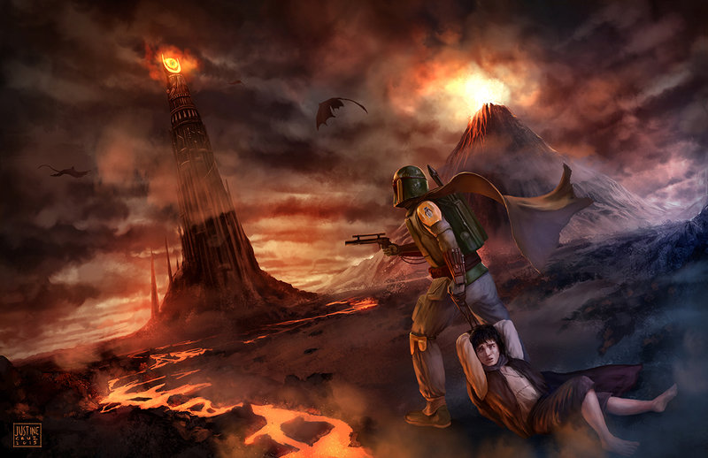 Boba Fett takes the Rings to Mordor