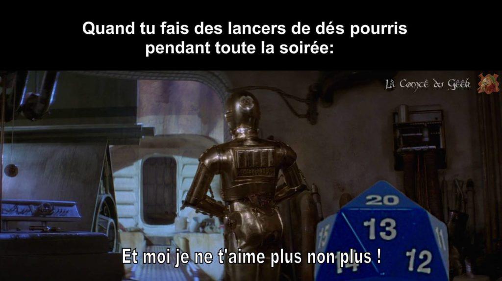 Jeux de Rôle Star Wars humour meme