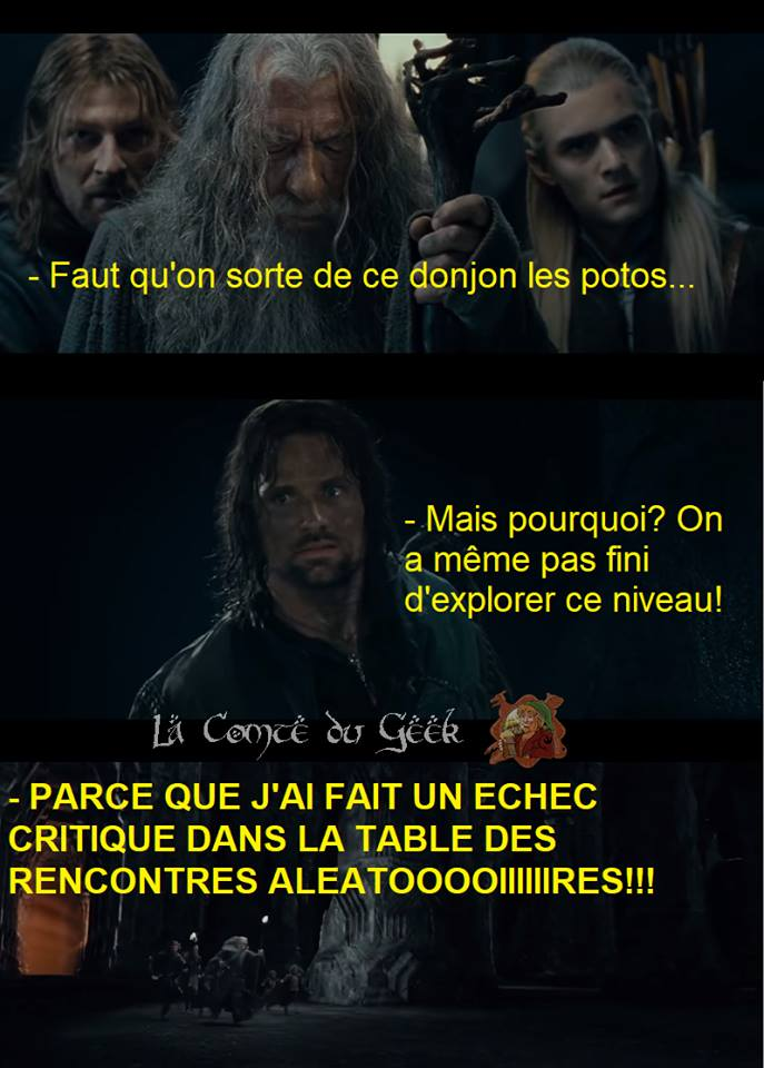 Jeux de rôle le seigneur des anneaux humour meme gandalf